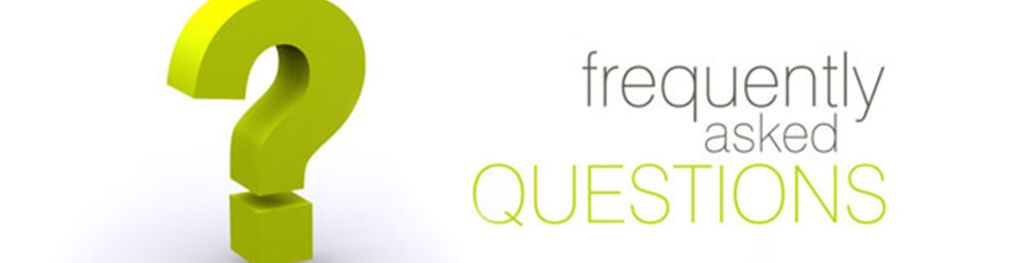 A green question mark next to the words 'frequently asked questions'.