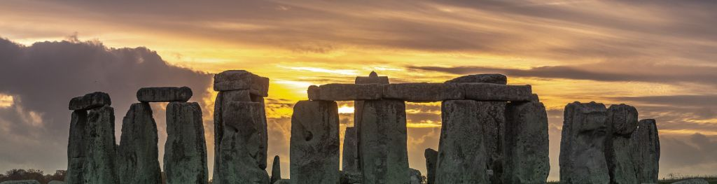 Stonehenge during a sunset