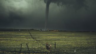 A tornado in Wyoming, USA