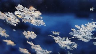 Macro close-up of snowflakes. Photo Kacper Szczechla