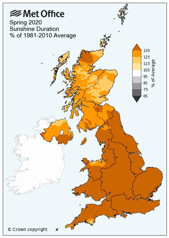 seasonal sunshine 2020 spring anomaly 1981 2010