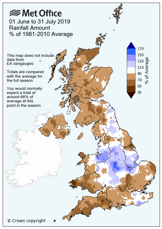 July 2019: a month in UK climate statistics | Met Office | Official