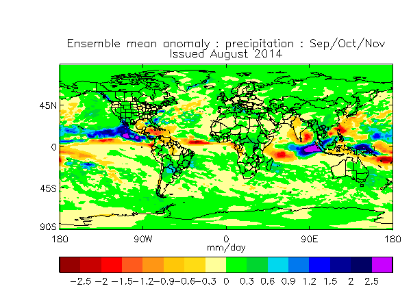 August 2014 Months 2-4  Global Precipitation